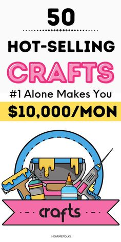 Want to make and sell crafts? If you are looking for a fun & easy way to make extra money, I've got you covered. Anyone with a passion and strong desire can make money with craft business. Here are the 50 most profitable crafts to sell for money. Work From Home Opportunities, Work From Home Tips, Make Money From Home, Way To Make Money, Sell Used Stuff Online, Sell Stuff, Make Money Blogging, Make Money Online, Online Jobs For Moms