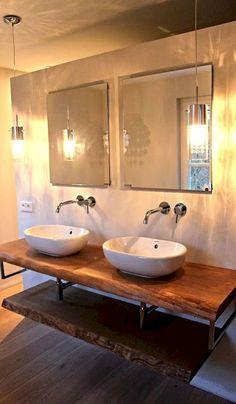 50 best farmhouse bathroom vanity remodel ideas (39)