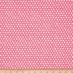 Michael Miller Menagerie Sun Tiles Lipstick from @fabricdotcom  Designed by Gillian Fullard of London Portfolio for Michael Miller, this cotton print is perfect for quilting, apparel and home decor accents.  Colors include pink and white.