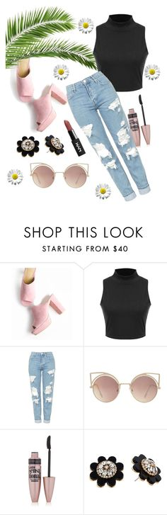 """""""summer"""" by mayrad1 on Polyvore featuring Topshop, MANGO, Maybelline and Kate Spade"""