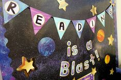 Galaxy classroom cut-outs can add instant style to your learning environment. Star Themed Classroom, Space Theme Classroom, Stars Classroom, Classroom Setting, Classroom Displays, Classroom Decor, Space Bulletin Boards, Classroom Bulletin Boards, Galaxy Theme