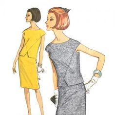 McCall's 7782 Misses 1960s Two-Piece Dress Pattern Bust 32