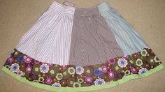 Altered Upcycled skirt made from Men's shirt sleeves by UpCDooZ, $26.00