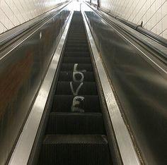 Love on an escalator. #love