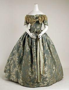 1855  -brocart dress