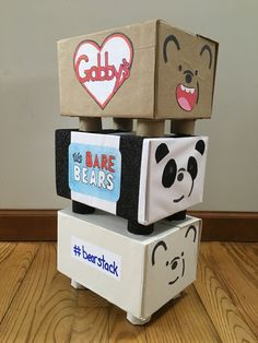 We Bare Bears Valentines box Cool Valentine Boxes, Bear Valentines, 1st Boy Birthday, Diy Birthday, Fun Crafts, Crafts For Kids, We Bare Bears Wallpapers, Creative Box, Bear Party