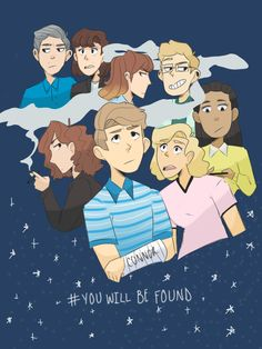 Evan And Connor, Dear Evan Hansen Musical, Dear Even Hansen, And Peggy, Out Of Touch, The A Team, Beetlejuice, Musical Theatre, Tag Art