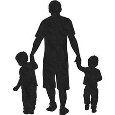 Silhouette Design Store - View Design #17500: 2 sons and father