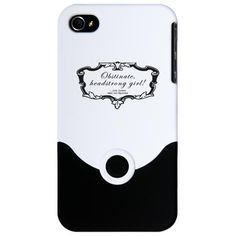 Jane Austen iPhone case--oh lady catherine!  http://www.cafepress.ca/+jane_austen_gift_iphone_4_slider_case,521255454