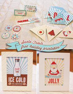 FREE+Holiday+Printables:+Santa+Milk+&+Cookies+Theme