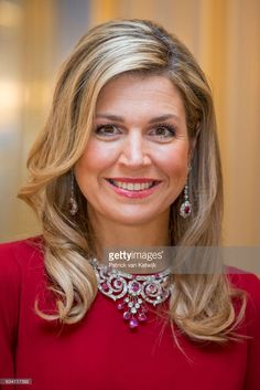 Queen Maxima of the Netherlands hosts a dinner in honor of German president Joachim Gauck at Palace Noordeinde on February 6, 2017 in The Hague, Netherlands. (Photo by Patrick van Katwijk/Getty Images)