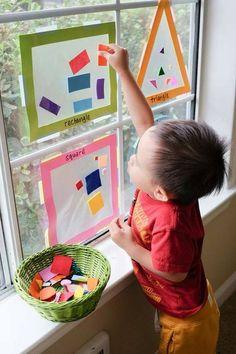 Nursery Activities, Toddler Learning Activities, Kindergarten Activities, Preschool Activities, Teaching Kids, Kids Learning, Shape Activities, Preschool Shapes, Teaching Colors