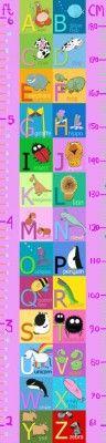 Girls Alphabet Height Chart