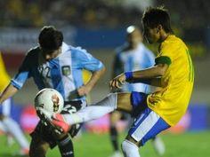 Brasiliens Stürmer Neymar war der Matchwinner für Brasilien. (Foto: Fernando Bizerra Jr/dpa)