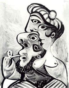 Pablo Picasso, 1969 Homme et femme- bustes