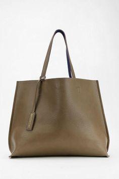 3bbf30e6593be8 Tote Bag: Reversible Vegan Leather Oversized Tote Bag Minimalist Bag,  Minimalist Fashion, Vegan