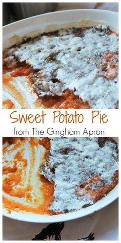 Sweet Potato Pie- Perfect for Thanksgiving! Delicious and easy. #thanksgiving