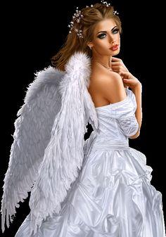 dreamies.de (ky2mm53llp9.gif) Fantasy Art Women, Beautiful Fantasy Art, Beautiful Fairies, Fantasy Girl, Angel Images, Angel Pictures, Evvi Art, Beauté Blonde, Angel Artwork