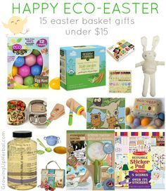 Happy Eco-Easter: 15 Easter Basket Gifts Under $15 | http://GrowingUpHerbal.com - 15 fun eco-friendly Easter basket gift ideas for little ones