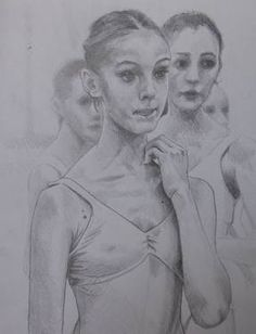 """Saatchi Art is pleased to offer the drawing, """"Ballet shool's students,"""" by Giuseppe Vallesi. Original Drawing: Pencil on Paper. Size is 0 H x 0 W x 0 in. Student Drawing, Saatchi Art, Students, Ballet, Paintings, Drawings, Paint, Painting Art, Ballet Dance"""