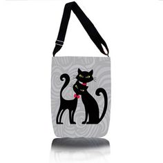 """Stylová lehká taška """"šopovka"""", vhodná nejen na nákupy a volný čas. Krásný a populární kočičí design, nastavitelný popruh přes rameno. Zapínaní na zip, uvnitř jedna kapsa."""