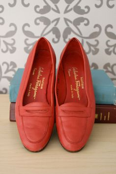 ferragamo red loafers