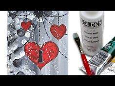 Easy Heart 💜🎨 Painting on canvas Acrylic Painting tutorial for Beginners - Watch Video Acrylic Painting For Beginners, Easy Canvas Painting, Heart Painting, Acrylic Painting Tutorials, Step By Step Painting, Beginner Painting, Love Painting, Acrylic Art, Acrylic Paintings