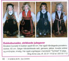 Dolls with Norwegian National Costumes