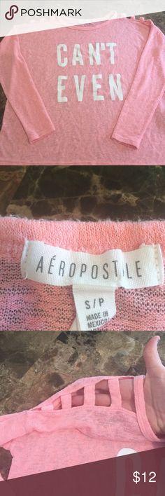 Adorable Aeropostale open shoulder shirt Very cute & beautiful color this aeropostale shirt has a very sexy open shoulder ... Aeropostale Tops Tees - Long Sleeve