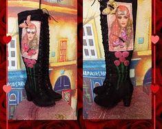Gypsy bridal boots | Etsy Wedding Boots, Big Day, Gypsy, Take That, Bridal, Creative, Handmade, Stuff To Buy, Inspiration