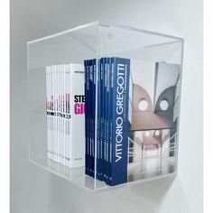 Idea for Custom Acrylic Displays:  Clear Wall Cube Shelves