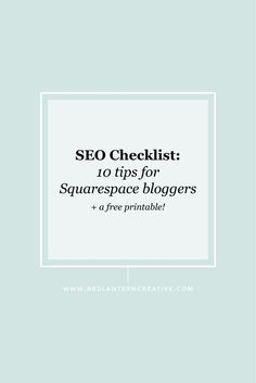 Squarespace doesn't have an analytical SEO checklist plugin to scan your site and posts for keyword strength. So how do Squarespace users overcome this? Easy ... do what I did.