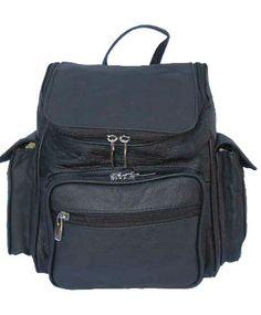 Soft Leather Backpack Travel Bag (Black, Brown, Tan)