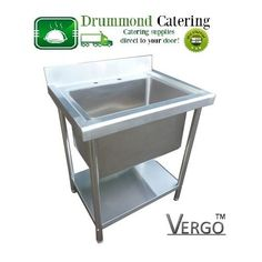 New Commercial Stainless Steel Catering Kitchen Sink Single Bowl Deep Pot Wash in Business, Office & Industrial, Restaurant & Catering, Kitchen Equipment & Units | eBay