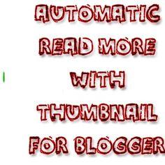 थंबनेल के साथ Auto Read More विजेट लगाएँ   ultapulta Read More, Reading, Reading Books