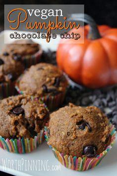 Worth Pinning: Vegan Pumpkin Chocolate Chip Muffins