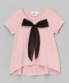 Look at this Pink High-Low Bow Top - Toddler & Girls on #zulily today!