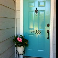 Thanks to Pinterest I found a great color! Love my new door!