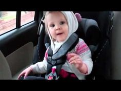 Baby In The Backseat Rockin Out To Kid Cudi Rap Song