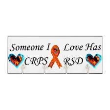 Someone I Love Has CRPS RSD Ribbon Fire Key Hanger