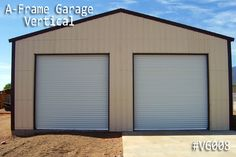 An A-frame garage with Vertical Roof Style is the perfect A-frame garage option. Coast To Coast Carports, Metal Garages, Roof Styles, Garage Doors, Husband, Toys, Building, Frame, Outdoor Decor