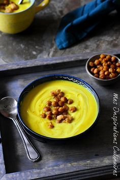 recette Soupe crémeuse au chou fleur au curcuma