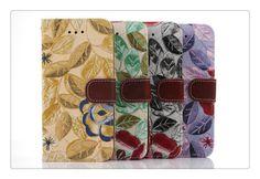 iPhone 6(4.7) Flipcover aus Leder mit schöner Blumen - spitzekarte.com