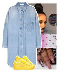 """."" by theyknowtyy ❤ liked on Polyvore featuring Kate Spade and adidas"