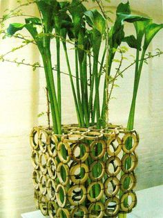 vaso Bamboo Planter, Bamboo Art, Bamboo Crafts, Bamboo Garden, Bamboo Fence, Bamboo Building, Bamboo Architecture, Wood Plant Stand, Bamboo House