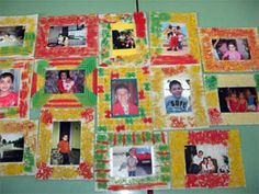 Pasta Picture Frame. Crafts for Kids. Lessons and Activities for children in kindergarten to grade 12: KinderArt ®