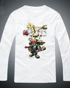 Plus size Dota 2 Boush camiseta de manga longa para homens-
