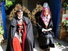 Maragatos couple, Spain  Unlike other converted Moors who blended into Spanish culture after the first expulsion of the Moors in 1492, the Maragatos have preserved their identity. They were first recorded in the area in the 10th century.