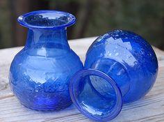 Cobalt Blue Glass Bud Vase