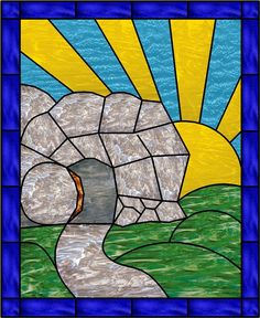 In-depth posts for using Resurrection Eggs to teach young children about Easter, complete with The Beginners Bible page references! Includes ideas for dialogue with your child. Stained Glass Cookies, Stained Glass Quilt, Faux Stained Glass, Stained Glass Panels, Stained Glass Projects, Stained Glass Patterns, Easter Paintings, Empty Tomb, Easter Art